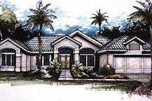 Mediterranean Exterior - Front Elevation Plan #320-141