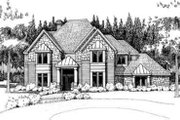 European Style House Plan - 3 Beds 3 Baths 3215 Sq/Ft Plan #120-161 Exterior - Front Elevation