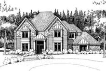 Home Plan - European Exterior - Front Elevation Plan #120-161