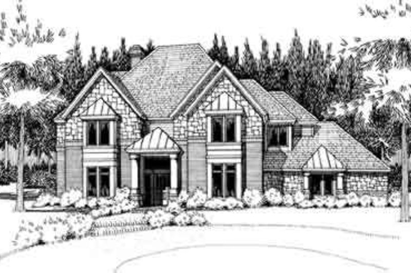 European Exterior - Front Elevation Plan #120-161