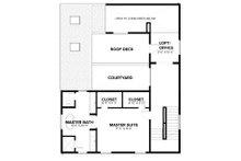 Modern Floor Plan - Upper Floor Plan Plan #1076-2