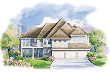 Home Plan Design - European Exterior - Rear Elevation Plan #20-1150