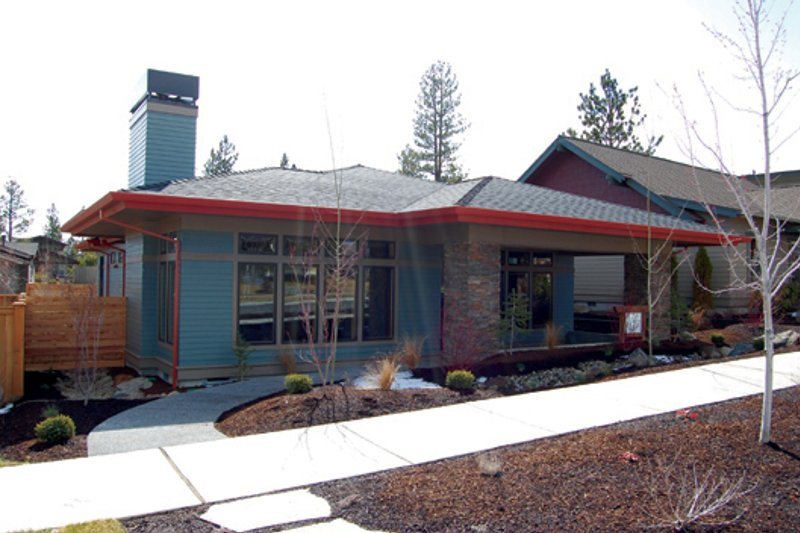 House Plan Design - Prairie Exterior - Front Elevation Plan #434-12