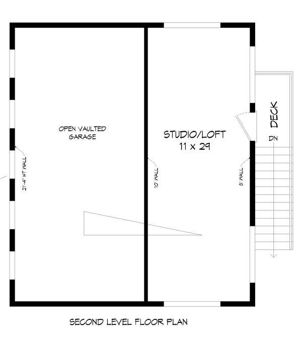 House Plan Design - Contemporary Floor Plan - Upper Floor Plan #932-70