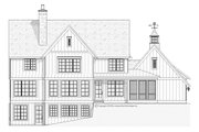Country Style House Plan - 4 Beds 3.5 Baths 3466 Sq/Ft Plan #901-101 Exterior - Rear Elevation