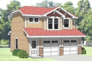 Farmhouse Exterior - Front Elevation Plan #116-129