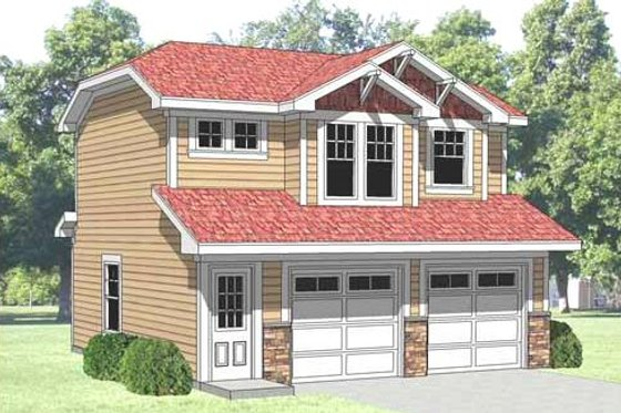Farmhouse Exterior - Front Elevation Plan #116-129