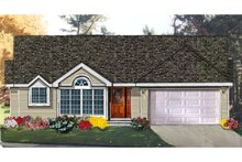 Dream House Plan - Ranch Exterior - Front Elevation Plan #3-124