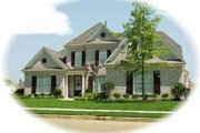 Colonial Style House Plan - 4 Beds 3.5 Baths 3646 Sq/Ft Plan #81-556 Exterior - Front Elevation