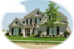 Colonial Exterior - Front Elevation Plan #81-556