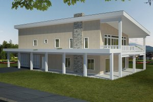 Contemporary Exterior - Front Elevation Plan #117-885