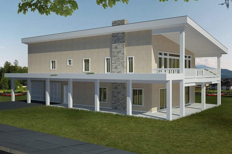 Dream House Plan - Contemporary Exterior - Front Elevation Plan #117-885