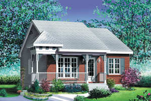 Cottage Exterior - Front Elevation Plan #25-158