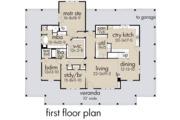 Farmhouse Style House Plan - 3 Beds 2 Baths 2748 Sq/Ft Plan #120-254 Floor Plan - Main Floor Plan
