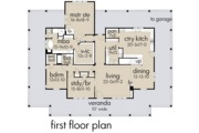 Farmhouse Style House Plan - 3 Beds 2 Baths 2748 Sq/Ft Plan #120-254 Floor Plan - Main Floor Plan