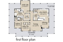 Farmhouse Floor Plan - Main Floor Plan Plan #120-254