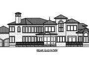 Mediterranean Style House Plan - 5 Beds 5.5 Baths 4170 Sq/Ft Plan #413-134 Exterior - Rear Elevation