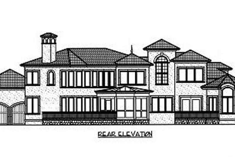 Mediterranean Exterior - Rear Elevation Plan #413-134 - Houseplans.com