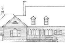 Country Exterior - Rear Elevation Plan #137-239