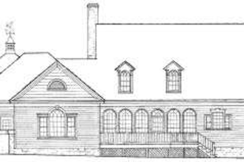 Country Exterior - Rear Elevation Plan #137-239 - Houseplans.com