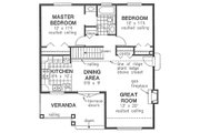 Craftsman Style House Plan - 2 Beds 1 Baths 940 Sq/Ft Plan #18-1042 Floor Plan - Main Floor Plan