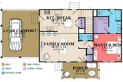 Country Style House Plan - 3 Beds 2 Baths 1686 Sq/Ft Plan #63-379 Floor Plan - Main Floor Plan