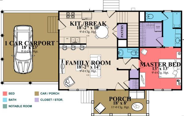 Country Floor Plan - Main Floor Plan Plan #63-379