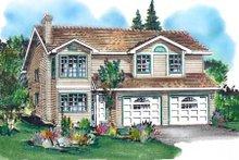 Home Plan Design - European Exterior - Front Elevation Plan #18-227