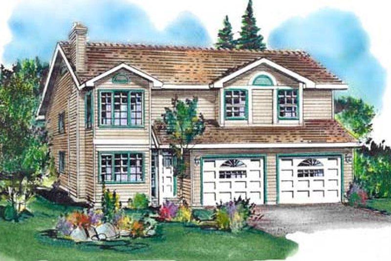 House Blueprint - European Exterior - Front Elevation Plan #18-227