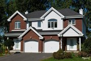 Traditional Style House Plan - 6 Beds 4.5 Baths 1264 Sq/Ft Plan #138-348 Exterior - Front Elevation