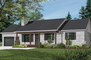 Farmhouse Exterior - Front Elevation Plan #23-122