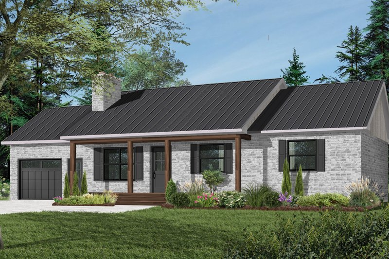 House Plan Design - Farmhouse Exterior - Front Elevation Plan #23-122