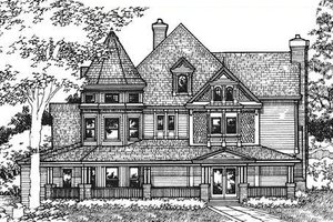 Dream House Plan - Victorian Exterior - Front Elevation Plan #320-295