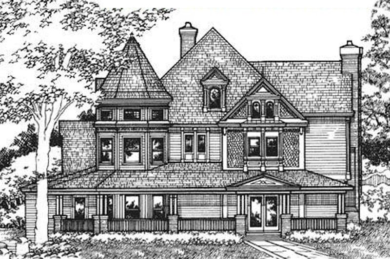 Victorian Exterior - Front Elevation Plan #320-295 - Houseplans.com