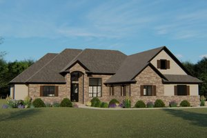 Dream House Plan - European Exterior - Front Elevation Plan #1064-1