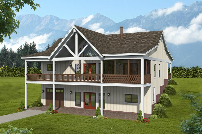 Dream House Plan - Traditional Exterior - Front Elevation Plan #932-415