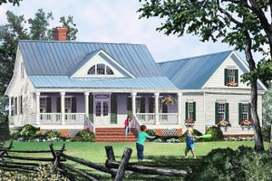 Architectural House Design - Country Exterior - Front Elevation Plan #137-374