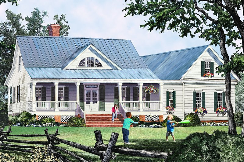 Dream House Plan - Country Exterior - Front Elevation Plan #137-374