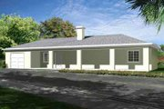 Ranch Style House Plan - 1 Beds 1 Baths 816 Sq/Ft Plan #1-467 Exterior - Front Elevation