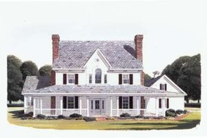 Architectural House Design - Country Exterior - Front Elevation Plan #410-115