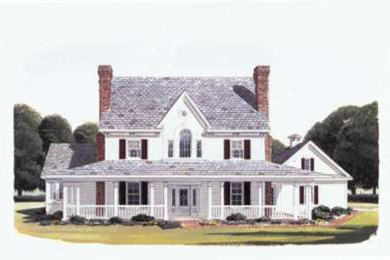 Country Exterior - Front Elevation Plan #410-115 - Houseplans.com