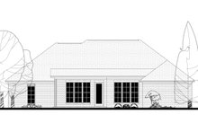 European Exterior - Rear Elevation Plan #430-138