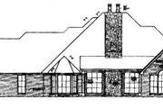 European Style House Plan - 4 Beds 3.5 Baths 3070 Sq/Ft Plan #310-392 Exterior - Rear Elevation