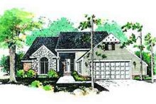 House Blueprint - Traditional Exterior - Front Elevation Plan #72-214