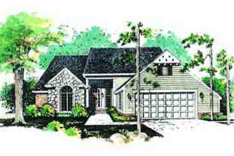 Traditional Exterior - Front Elevation Plan #72-214 - Houseplans.com