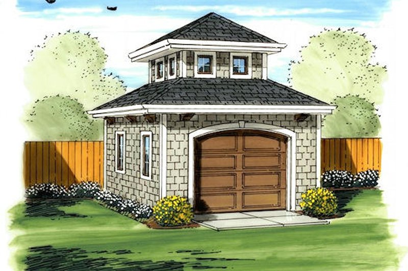 Mediterranean Style House Plan - 0 Beds 0 Baths 170 Sq/Ft Plan #455-15 Exterior - Front Elevation