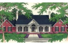 Architectural House Design - Southern Exterior - Front Elevation Plan #406-106