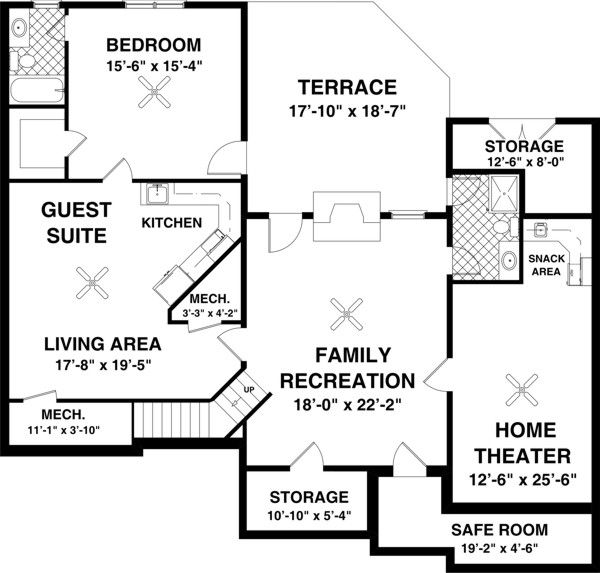 Colonial Floor Plan - Other Floor Plan Plan #56-590