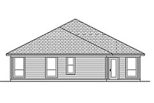 Home Plan - Traditional Exterior - Rear Elevation Plan #84-457