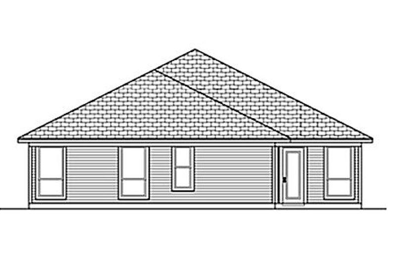 Traditional Exterior - Rear Elevation Plan #84-457 - Houseplans.com
